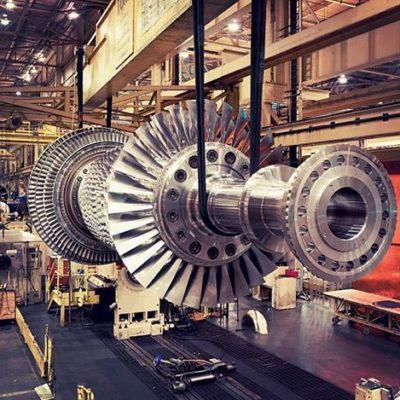 Lavaggio parti di turbine